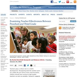 Examining Teacher Effectiveness Between Preschool and Third Grade