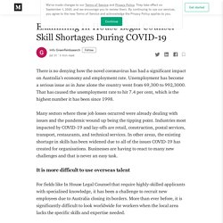 Examining In House Legal Counsel Skill Shortages During COVID-19