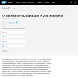 An example of visual analytics in Web Intelligence