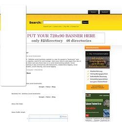 Example Dir .com:Dofollow social bookmarks