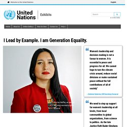I Lead by Example. I am Generation Equality.