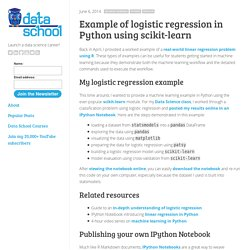 sklearn (scikit-learn) logistic regression package -- set ...