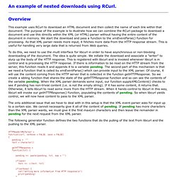 Example .  An example of nested downloads using RCurl.