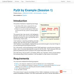 PyQt by Example (Session 1)