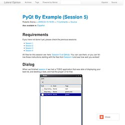 PyQt By Example (Session 5)
