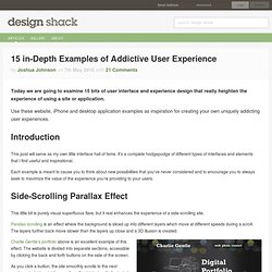 15 in-Depth Examples of Addictive User Experience