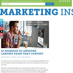 10 Examples of Awesome Landing Pages that Convert