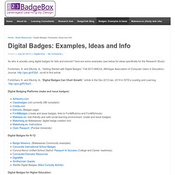 Digital Badges: Examples, Ideas and Info