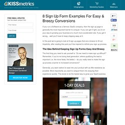 8 Sign Up Form Examples For Easy & Breezy Conversions