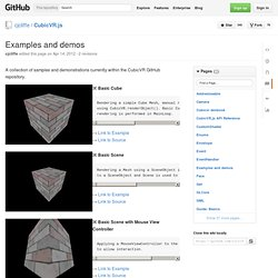 Examples and demos · cjcliffe/CubicVR.js Wiki · GitHub