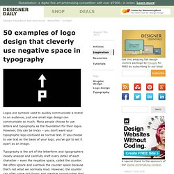 50 examples of logo design that cleverly use negative space in typography