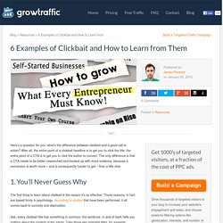 6 Examples of Clickbait and How to Learn from Them - Growtraffic Blog
