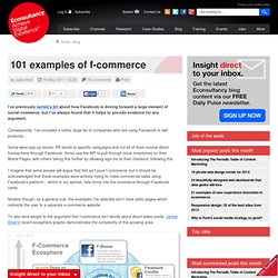 101 examples of f-commerce