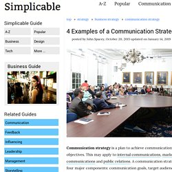 4 Examples of a Communication Strategy