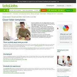 Cover letter examples: Free covering letter and cover letter template.