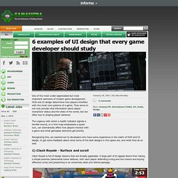 6 examples of UI design that every game developer should study