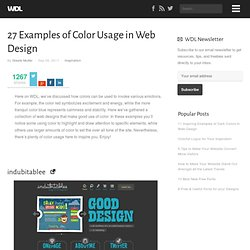 27 Examples of Color Usage in Web Design