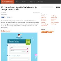 30 Examples of Sign-Up Web Forms for Design Inspiration