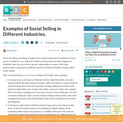 Examples of Social Selling in Different Industries.