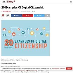 20 Examples Of Digital Citizenship -