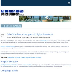 10 of the best examples of digital literature