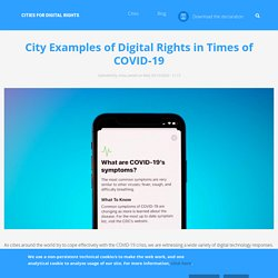 City Examples of Digital Rights in Times of COVID-19