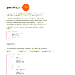 Examples and documentation on grumble.js