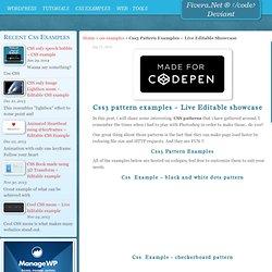 Css3 Pattern Examples - Live Editable Showcase - Fivera.net