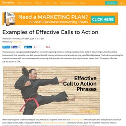 Examples Of Effective Calls To Action