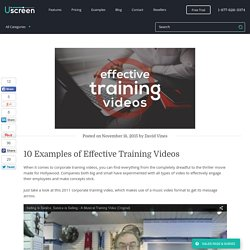 10 Examples of Effective Training Videos