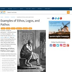 Examples of Ethos, Logos, and Pathos