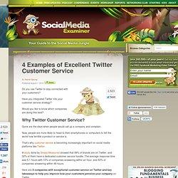 4 exemples à suivre en termes de service clients sur Twitter