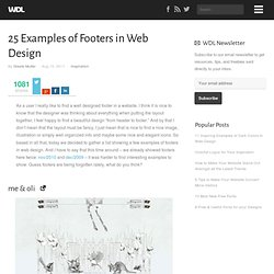 25 Examples of Footers in Web Design