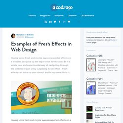 Examples of Fresh Effects in Web Design