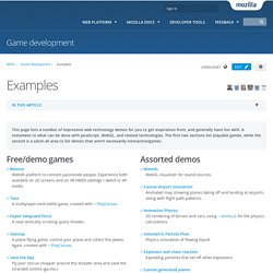 Examples - Game development
