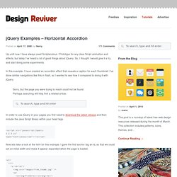 jQuery Examples – Horizontal Accordion