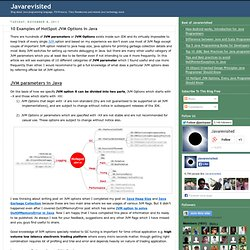 10 Examples of HotSpot JVM Options in Java