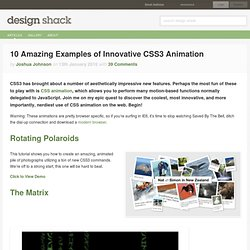 10 Amazing Examples of Innovative CSS3 Animation
