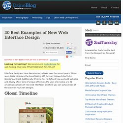 30 Best Examples of New Web Interface Design at DzineBlog