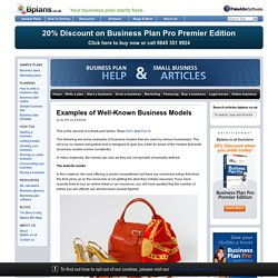 Examples of Well-Known Business Models