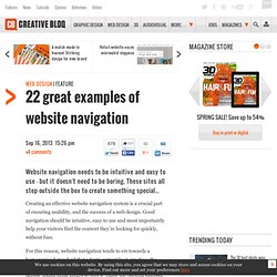 22 great examples of website navigation