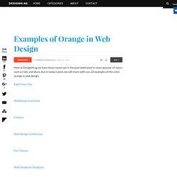 Examples of Orange in Web Design