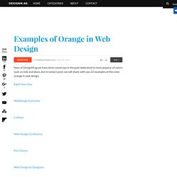 Examples of Orange in Web Design