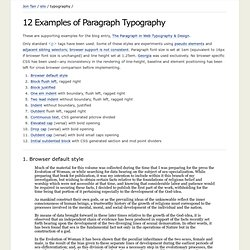 12 Examples of Paragraph Typography