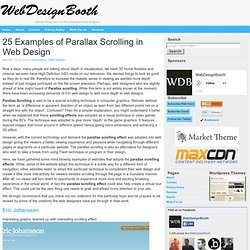 25 Examples of Parallax Scrolling in Web Design