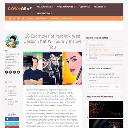20 Examples of Parallax Web Design