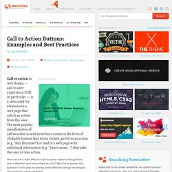 Call to Action Buttons: Examples and Best Practices « Smashing M