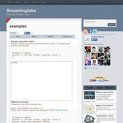 Smashing Labs - gMap, Google Maps jQuery plugin - examples