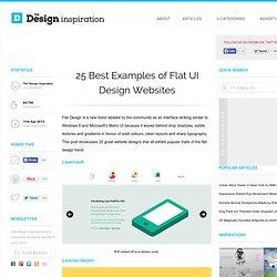 25 Best Examples of Flat UI Design Websites