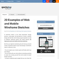 20 Effective Examples of Web and Mobile Wireframe Sketches
